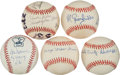 Autographs:Baseballs, Negro League Greats Signed Baseballs Lot Of 5....