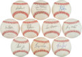 Autographs:Baseballs, Texas Rangers Greats Single Signed Baseballs Lot Of 10....