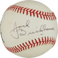 Autographs:Baseballs, Jack Brickhouse Single Signed Baseball....