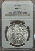Morgan Dollars: , 1899 $1 MS64+ NGC. NGC Census: (2829/670). PCGS Population(3709/1315). Mintage: 330,846. Numismedia Wsl. Price for problem...