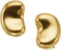 """Estate Jewelry:Earrings, A PAIR OF GOLD EARRINGS, ELSA PERETTI FOR TIFFANY & CO.. The18k gold """"Bean"""" earrings weigh 15.41 grams, marked Tiffany &Co..."""