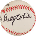 Autographs:Baseballs, Betty White Single Signed Baseball. ...