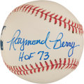 "Autographs:Baseballs, Raymond Berry ""HoF 73"" Single Signed Baseball...."
