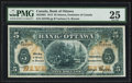 Canadian Currency: , Ottawa, ON- The Bank of Ottawa $5 Sept. 1, 1913 Ch. # 565-26-02....
