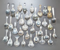 Paintings, A COLLECTION OF THIRTY-FIVE SILVER AND OTHER CADDY SPOONS BY VARIOUS MAKERS. 18th/20th centuries. 4-3/4 inches long (12.1 cm... (Total: 35 Items)
