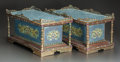 Asian:Chinese, A PAIR OF CHINESE CLOISONNÉ AND GILT BRONZE MOUNTED RECTANGULARSTANDS. Early 20th century. 9-1/2 x 19-1/4 x 10-1/4 inches (...(Total: 2 Items)