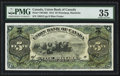 Canadian Currency: , Winnipeg, MB- Union Bank of Canada $5 July 1, 1912 Ch. # 730-16-02....