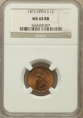 Indian Cents: , 1873 1C Closed 3 MS62 Red and Brown NGC. NGC Census: (12/227). PCGS Population (4/157). Numismedia Wsl. Price for problem ...