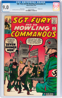 Sgt. Fury and His Howling Commandos #2 (Marvel, 1963) CGC VF/NM 9.0 Cream to off-white pages