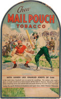 """Baseball Collectibles:Others, Circa 1950 """"Mail Pouch Tobacco"""" Baseball Themed AdvertisementBroadside...."""