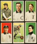 Baseball Cards:Lots, 1909-11 T206 Old Mill/Piedmont White Borders Group (6) - AllSouthern Leaguers! ...