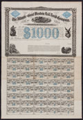 Miscellaneous:Other, Atlantic and Great Western Rail Road Company $1000 Second MortgageBond July 1, 1863. ...