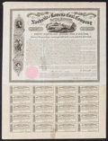 Miscellaneous:Other, Nashville and Rowena Coal Company $1000 First Mortgage Bond Oct. 1,1858. ...