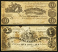 Confederate Notes:1861 Issues, T28 and T36 Notes.. ... (Total: 2 notes)