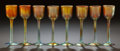 Art Glass:Tiffany , A SET OF EIGHT STEUBEN GOLD AURENE GLASS STEMS. Circa 1900. Marks:Aurene, 2828. 5 inches high x 1-1/2 inches wide (12.7...(Total: 8 Items)