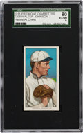 Baseball Cards:Singles (Pre-1930), 1909-11 T206 Piedmont Walter Johnson, Hands at Chest SGC 80 EX/NM6. ...