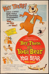 "Hey There, It's Yogi Bear (Columbia, 1964). Poster (40"" X 60""). Animation"