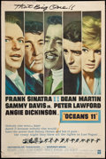 "Movie Posters:Crime, Ocean's 11 (Warner Brothers, 1960). Poster (40"" X 60"") Style Y. Crime.. ..."