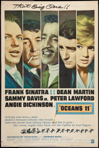 "Ocean's 11 (Warner Brothers, 1960). Poster (40"" X 60"") Style Y. Crime"