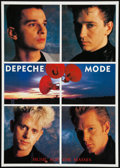 "Movie Posters:Rock and Roll, Depeche Mode (Sire, 1990s). Band Poster (24"" X 33.75""). Rock andRoll.. ..."