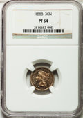Proof Three Cent Nickels: , 1888 3CN PR64 NGC. NGC Census: (241/554). PCGS Population(363/596). Mintage: 4,582. Numismedia Wsl. Price for problemfree...