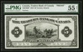 Canadian Currency: , Toronto, ON- The Traders Bank of Canada $5 Nov. 1, 1910 Ch. #720-18-02P Face Proof. ...