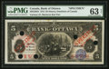 Canadian Currency: , Ottawa, ON- The Bank of Ottawa $5 1912 Ch. # 565-22-02S Specimen....