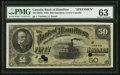 Canadian Currency: , Hamilton, LC- The Bank of Hamilton $50 June 1, 1892 Ch # 345-16-08SSpecimen. ...
