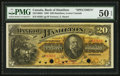 Canadian Currency: , Hamilton, LC- The Bank of Hamilton $20 June 1, 1892 Ch. #345-16-06S Specimen . ...