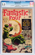 Silver Age (1956-1969):Superhero, Fantastic Four #1 (Marvel, 1961) CGC VG- 3.5 Cream to off-whitepages....