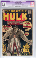 Silver Age (1956-1969):Superhero, The Incredible Hulk #1 (Marvel, 1962) CGC Apparent GD+ 2.5 Slight(A) Off-white to white pages....
