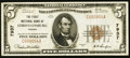 National Bank Notes:Virginia, Christiansburg, VA - $5 1929 Ty. 1 The First NB Ch. # 7937. ...