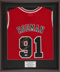 "Basketball Collectibles:Uniforms, Dennis Rodman ""Worm"" Signed Jersey...."