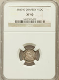 Seated Half Dimes: , 1840-O H10C Drapery XF40 NGC. NGC Census: (5/24). PCGS Population (4/20). Mintage: 240,000. Numismedia Wsl. Price for probl...