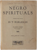 Books:Music & Sheet Music, [Music]. H. T. Burleigh. Negro Spirituals: Go Down, Moses. New York: G. Ricordi & Co., ca. 1917. Original wrappers. ...