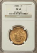 Indian Eagles: , 1912-S $10 AU58 NGC. NGC Census: (393/302). PCGS Population(188/362). Mintage: 300,000. Numismedia Wsl. Price for problem ...