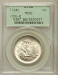 Commemorative Silver: , 1936-D 50C Texas MS66 PCGS. PCGS Population (935/341). NGC Census:(692/265). Mintage: 9,039. Numismedia Wsl. Price for pro...
