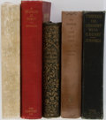 Books:First Editions, [Literature]. Group of Five First Editions. Various publishers.Includes Sam Clemens of Hannibal, A Traveler at Forty, Thr...(Total: 5 Items)
