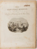 Books:Americana & American History, [Newspaper]. The New-York Mirror. Bound Volume ContainingVol. X. No. 1-52. 1832-1833. Engraved half-title and p...