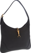 Luxury Accessories:Bags, Hermes 31cm Black Fjord Leather Trim I Bag with Gold Hardware. ...