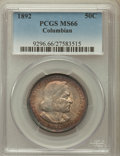 Commemorative Silver: , 1892 50C Columbian MS66 PCGS. PCGS Population (228/12). NGC Census:(220/30). Mintage: 950,000. Numismedia Wsl. Price for p...