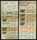 Military Payment Certificates:Series 461, Series 461; 471; 472; and 481.. ... (Total: 16 notes)