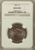 Large Cents, 1820 1C Large Date MS65 Brown NGC. N-13, R.1....