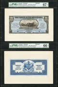Canadian Currency: , Port of Spain, Trinidad- The Royal Bank of Canada $20 (£4-3-4)January 2, 1920 Ch. # 630-66-04FP/BP Pick S152 Face/Back Proo...(Total: 2 notes)