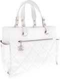 Luxury Accessories:Bags, Chanel White Leather Paris-Biarritz Tote Bag. ...