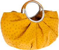 Christian Dior Jaune Yellow Ostrich Babe Bag