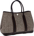 Luxury Accessories:Bags, Hermes Ebene Buffalo Leather & Chevron Wool Garden Party TPMTote Bag. ...