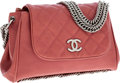 Luxury Accessories:Bags, Chanel Dusty Rose Pink Lambskin Leather Chain Strap Flap Bag. ...