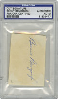 Autographs:Letters, Benny Bengough Cut Signature, PSA-Authentic. An often-overlooked member of the Bronx Bomber squads that dominated the 1920s...