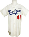 Autographs:Jerseys, Lou Johnson Signed Jersey. Lou Johnson has become a part of theDodger community after spending three seasons with the tea...